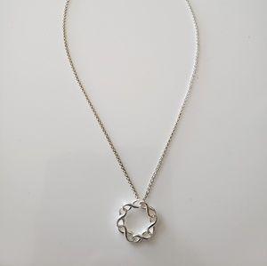 VINTAGE  ☆ Silver Design Necklace,  PRETTY!